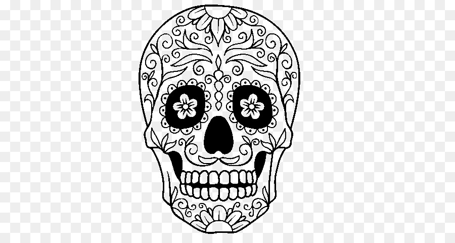 Calavera para Colorear libro México el Día de los Muertos Calavera y ...