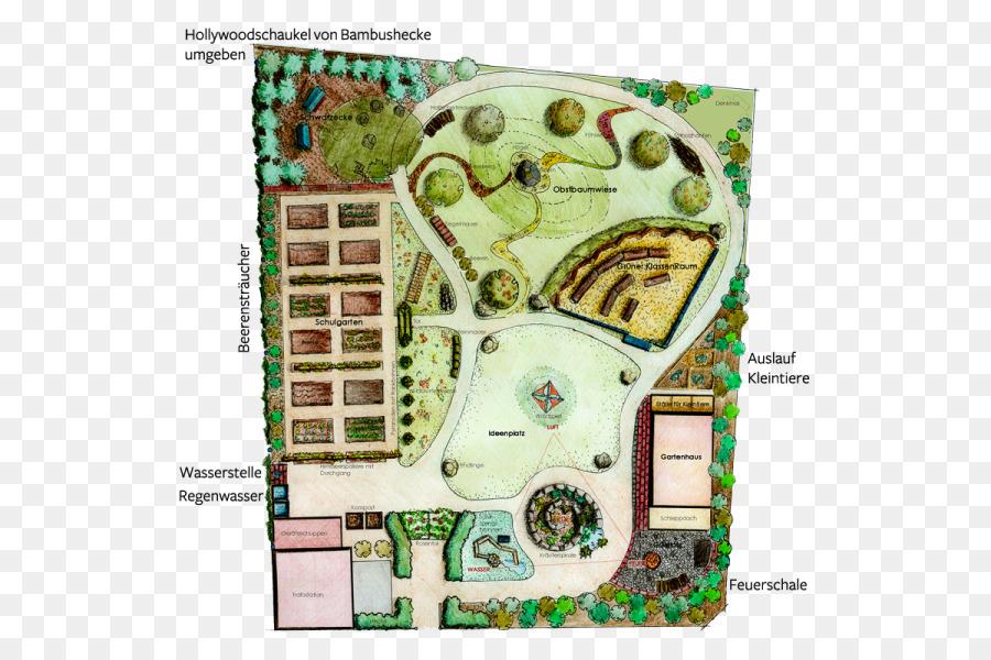 Auf Am Falkplatz Axonometry Puutarh Garten Grundriss Lan Png