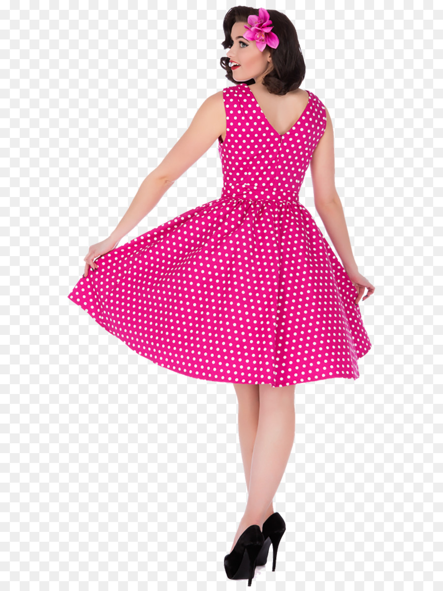 1950s Polka dot 1970s Rockabilly Dress - dress Formatos De Archivo ...