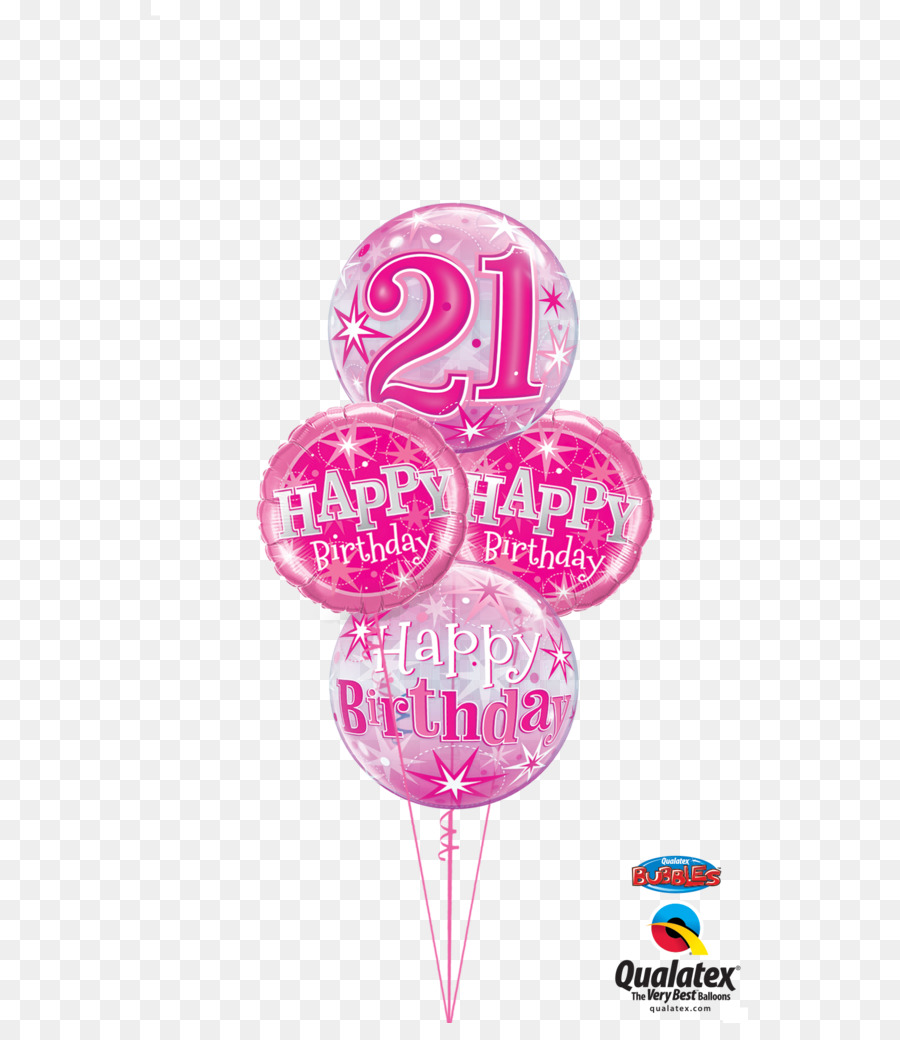 Mylar Balloon Birthday Cake Flower Bouquet 21st Birthday Png