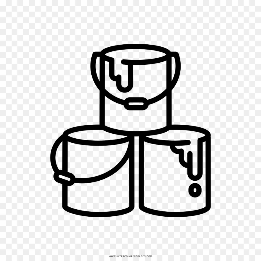 Drawing Painting Coloring book Tin can - paint png download - 1000 ...