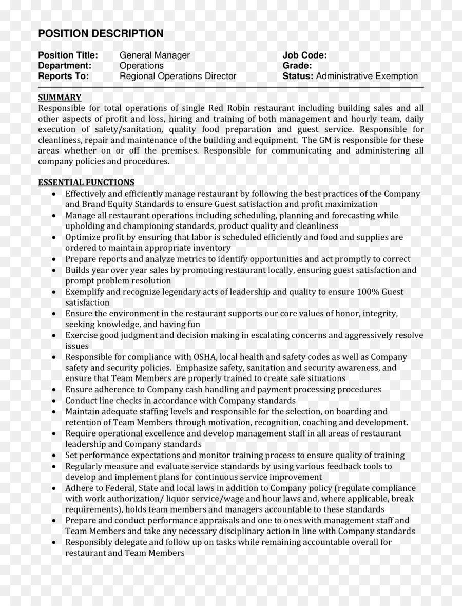 Resume Job Description Curriculum Vitae Supervisor Restaurant