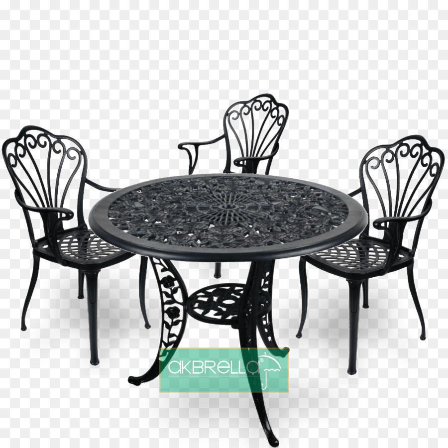 Tisch Stuhl Schmiedeeisen Garten Möbel Aus Gusseisen Tabelle Png
