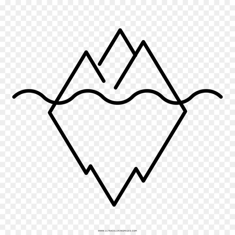 Menggambar Buku Mewarnai Gunung Es Industri Clip Art Gunung Es