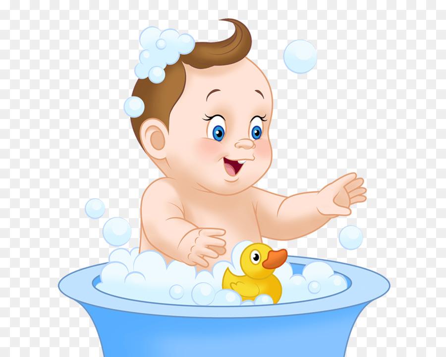 Картинка малыша моют для детей