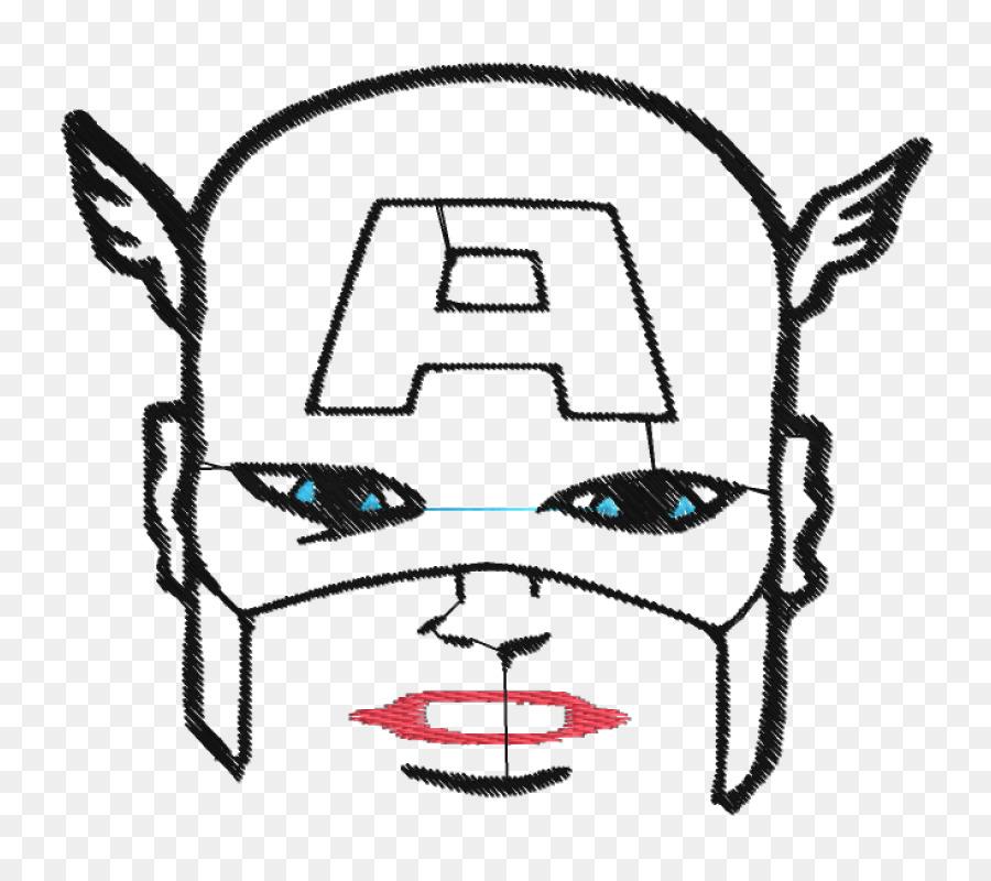 Capitán América, libro para Colorear, Dibujo en blanco y Negro de la ...