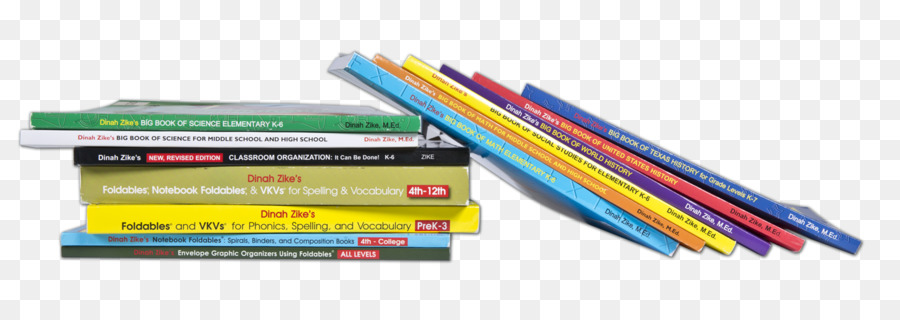 Office Supplies Plastic Line Stacked Books