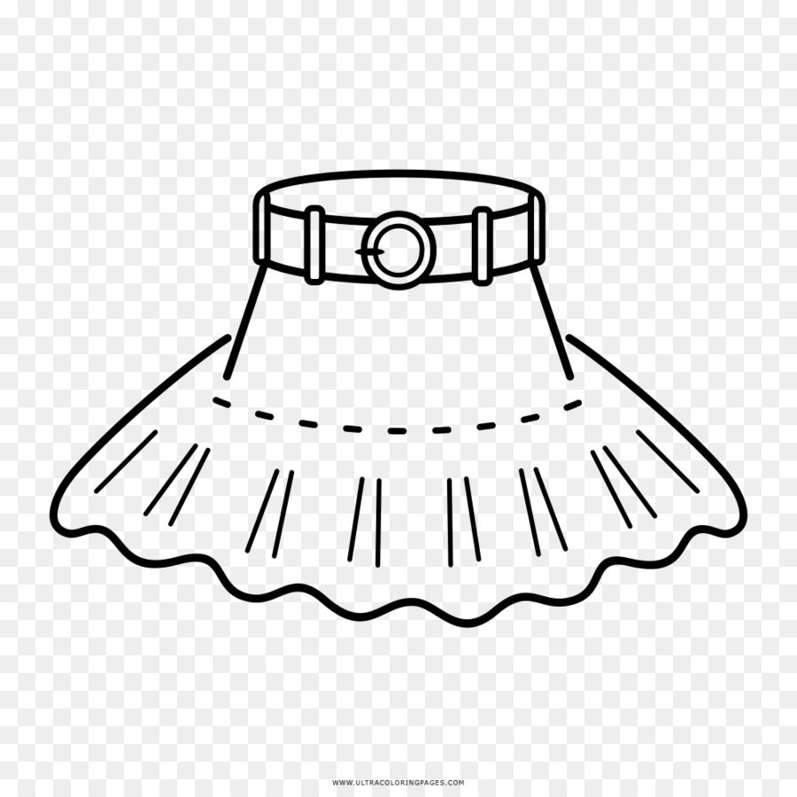 Drawing Black and white Skirt Coloring book - skirt Formatos De ...