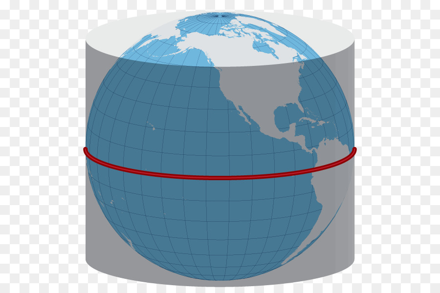 Globe Map Projections.Globe Map Projection Sphere Central Cylindrical Projection Globe