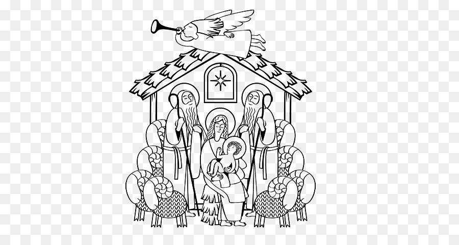 Dibujo de libro para Colorear de Niño Jesús Histórico escena de la ...