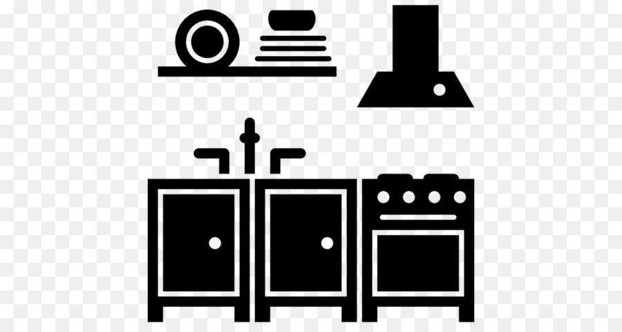 Icon Kitchen Design Cabinet White Black Png