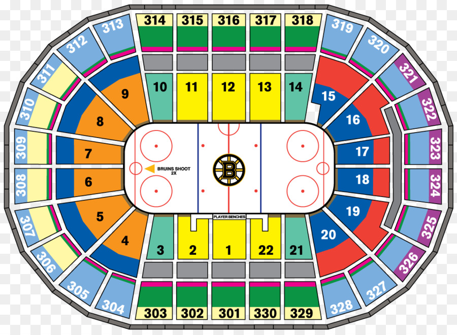 Elegant TD Garden Boston Bruins Providence Bruins Map Seating Plan   Map