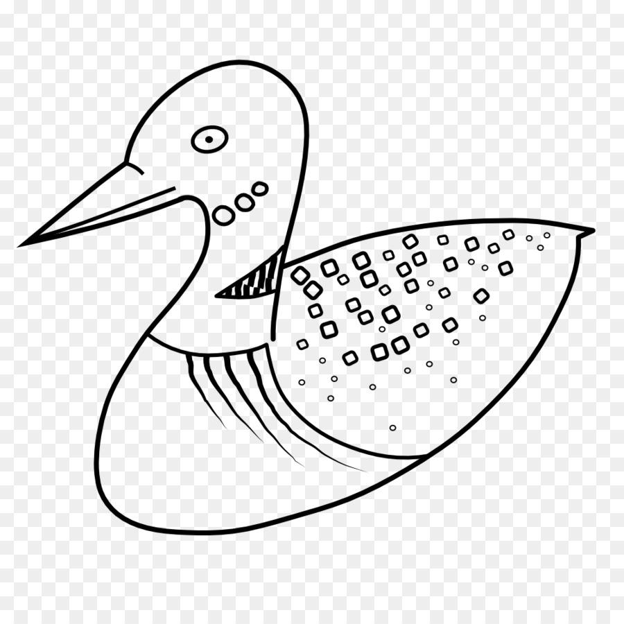 Gaga Ortak Loon Kuş Boyama Kitabı Küçük Resim Kuş Png Indir 1000