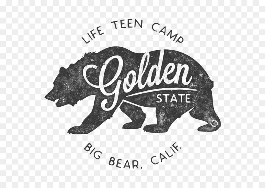 California Flag Bear Black And White