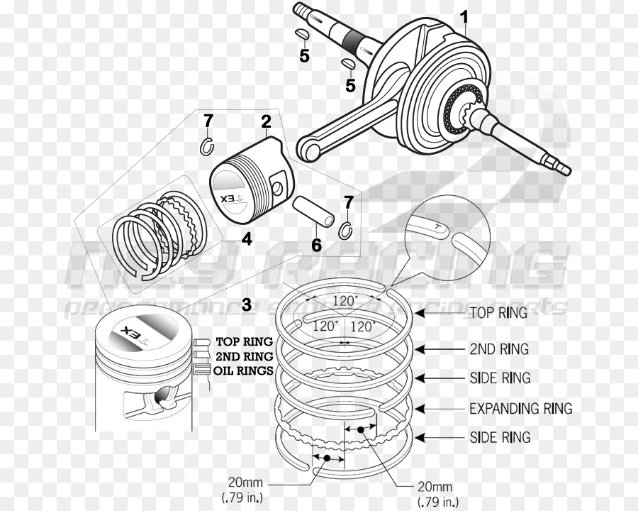 honda zoomer scooter gy6 engine ring diagram png download 717 rh kisspng com bajaj scooter engine diagram taotao scooter engine diagram