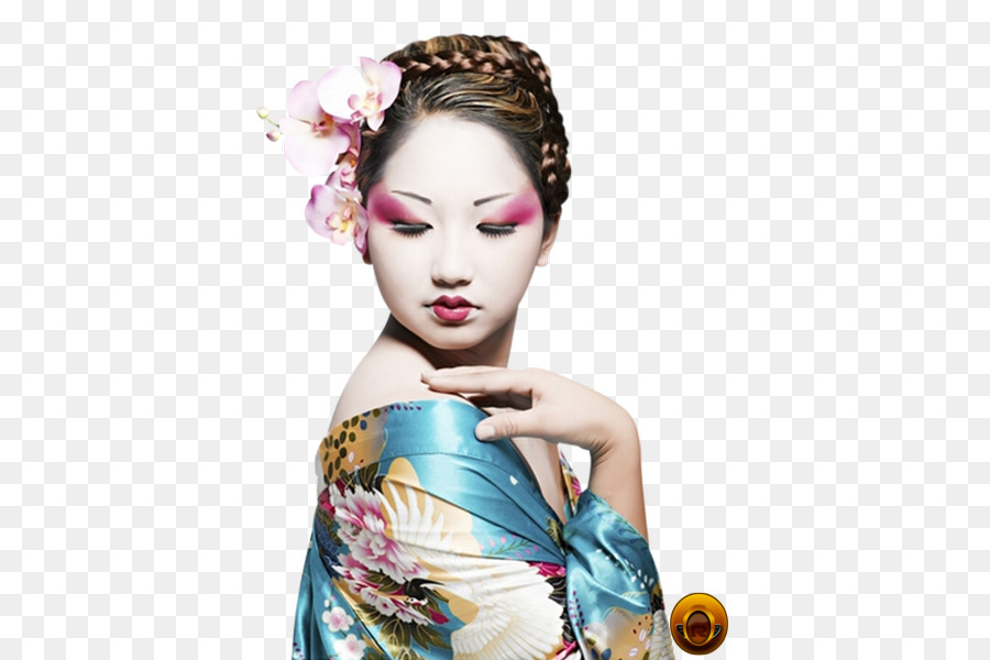 A Geisha Make-up Beauty Airbrush makeup - others png download - 437*600 - Free Transparent Geisha png Download.