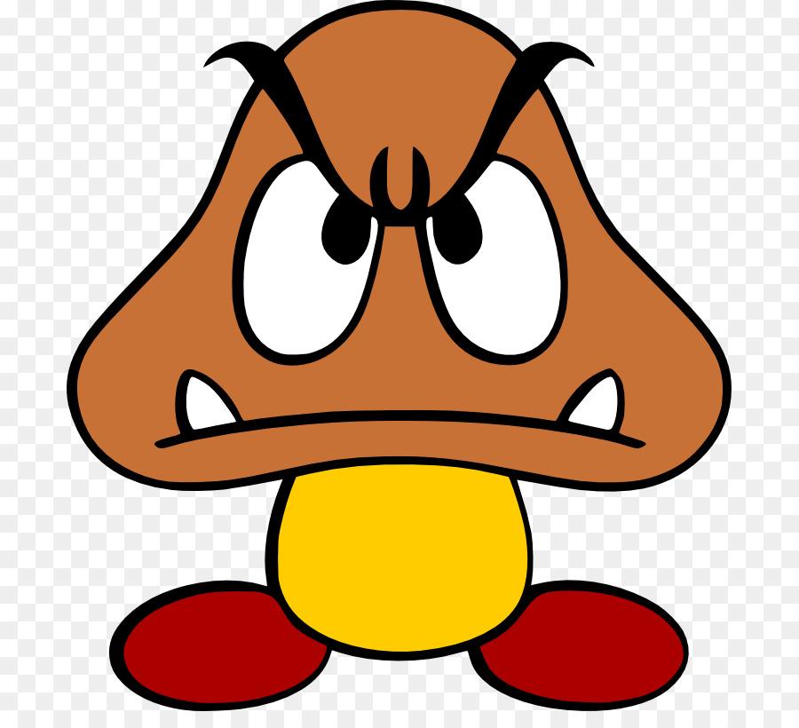 Mario goomba. Super bros yellow png