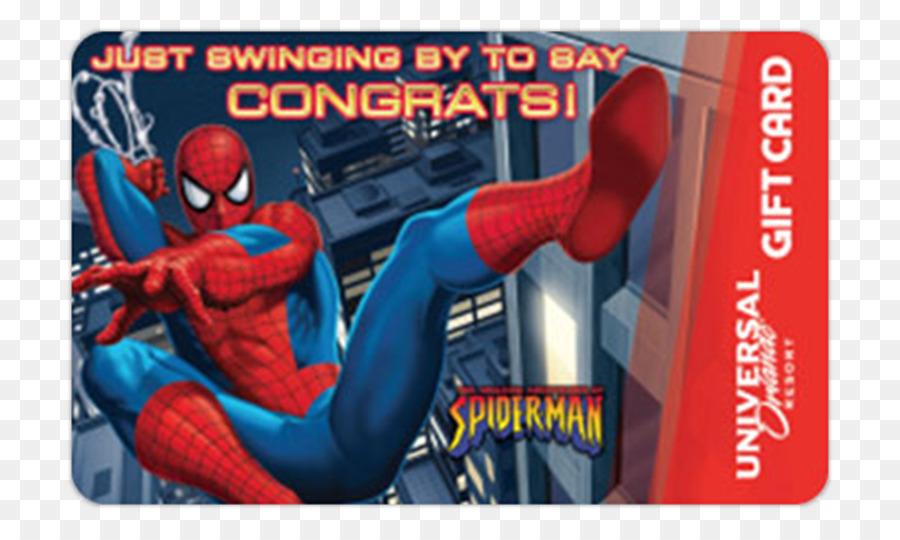 Universal Orlando Walt Disney World Spider Man Gift Card