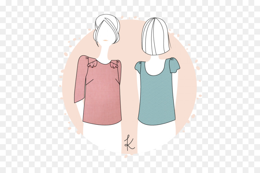 T-shirt Blouse Sleeve Sewing Pattern - T-shirt png download - 600 ...