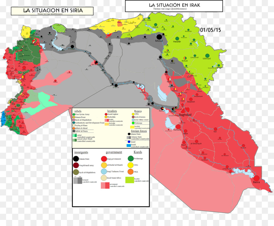 Karte Syrien Irak.Syrien Karte Islamischen Staat Irak Und Der Levante