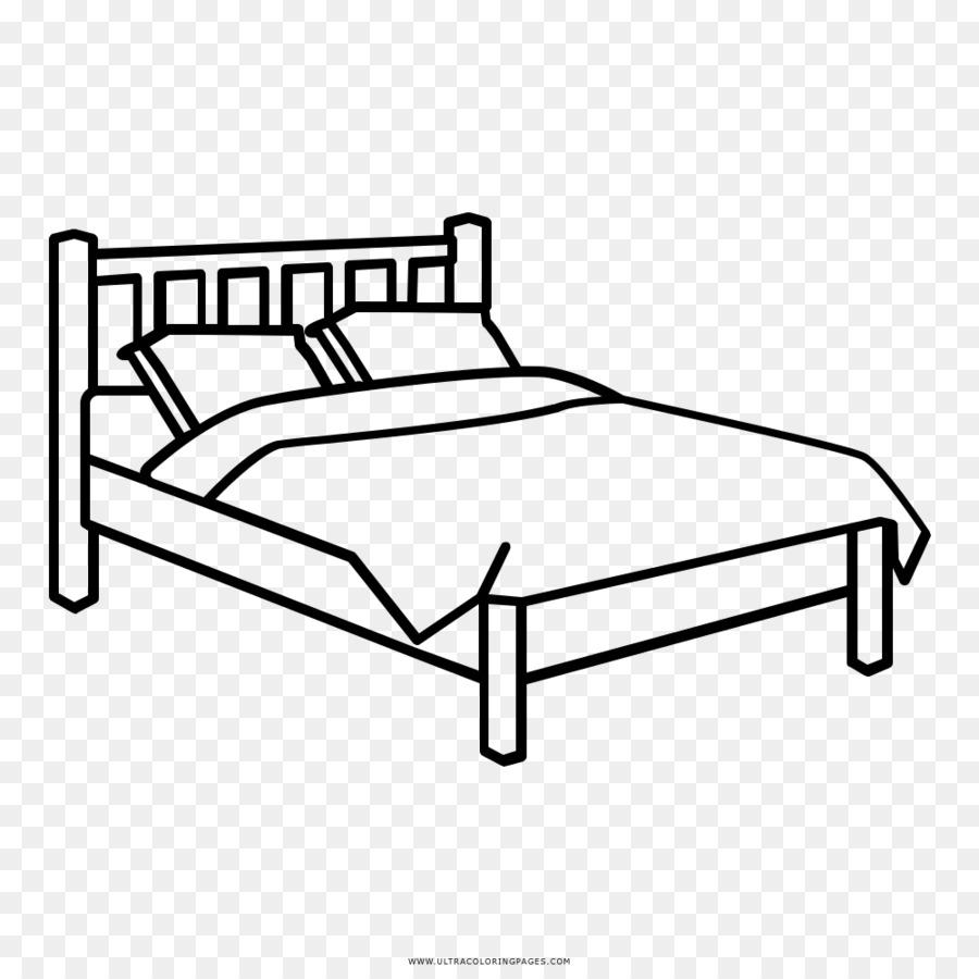 Yatak Odası çizim Boyama Kitabı Yatak Png Indir 10001000