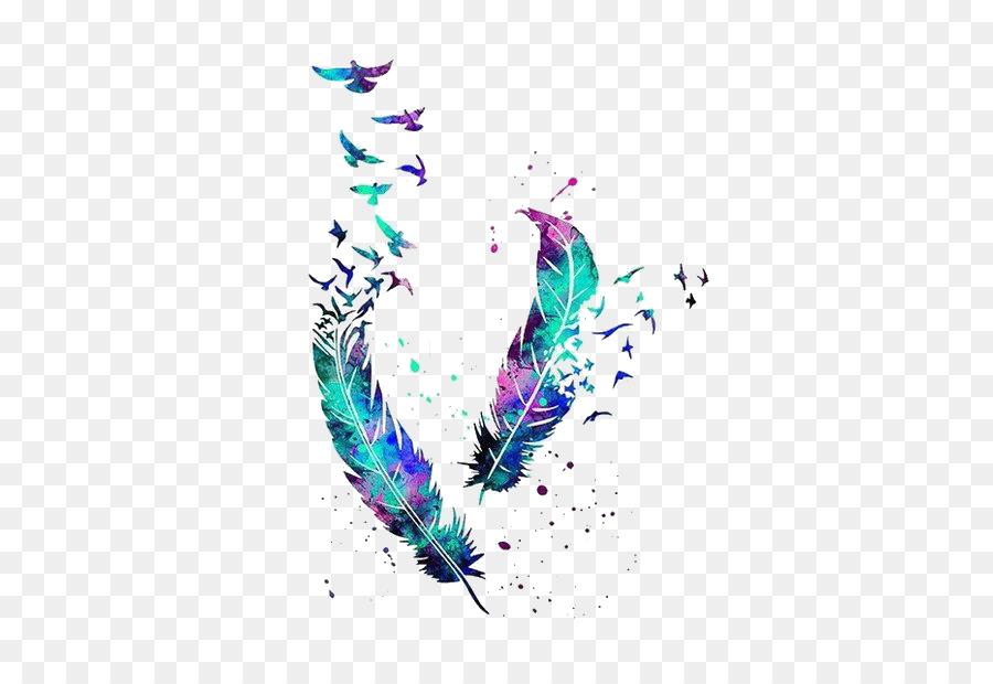 Oiseau De Plumes Tatouage Peinture A L Aquarelle Chouette Oiseau
