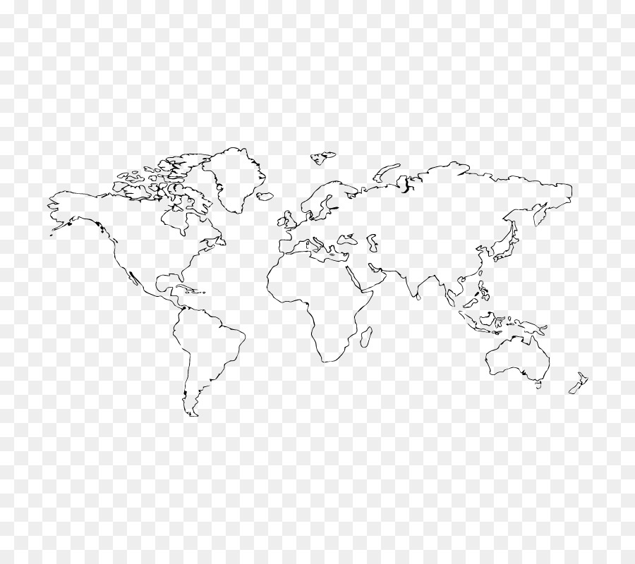 World map Blank map Tattoo - world map png download - 800*800 - Free ...
