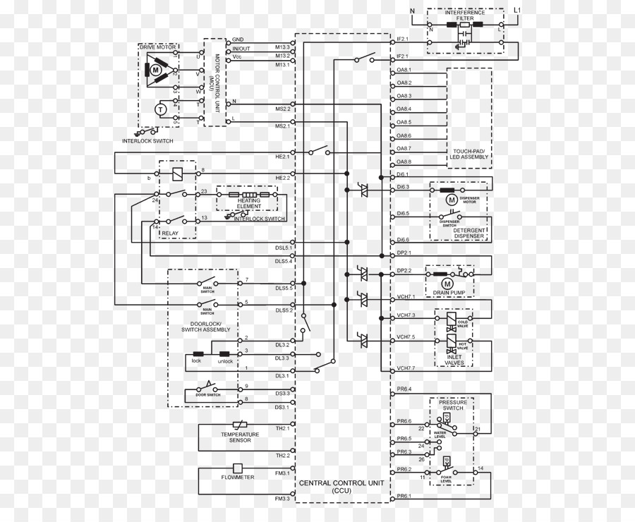 wiring diagram, whirlpool corporation, washing machines, drawing, text png