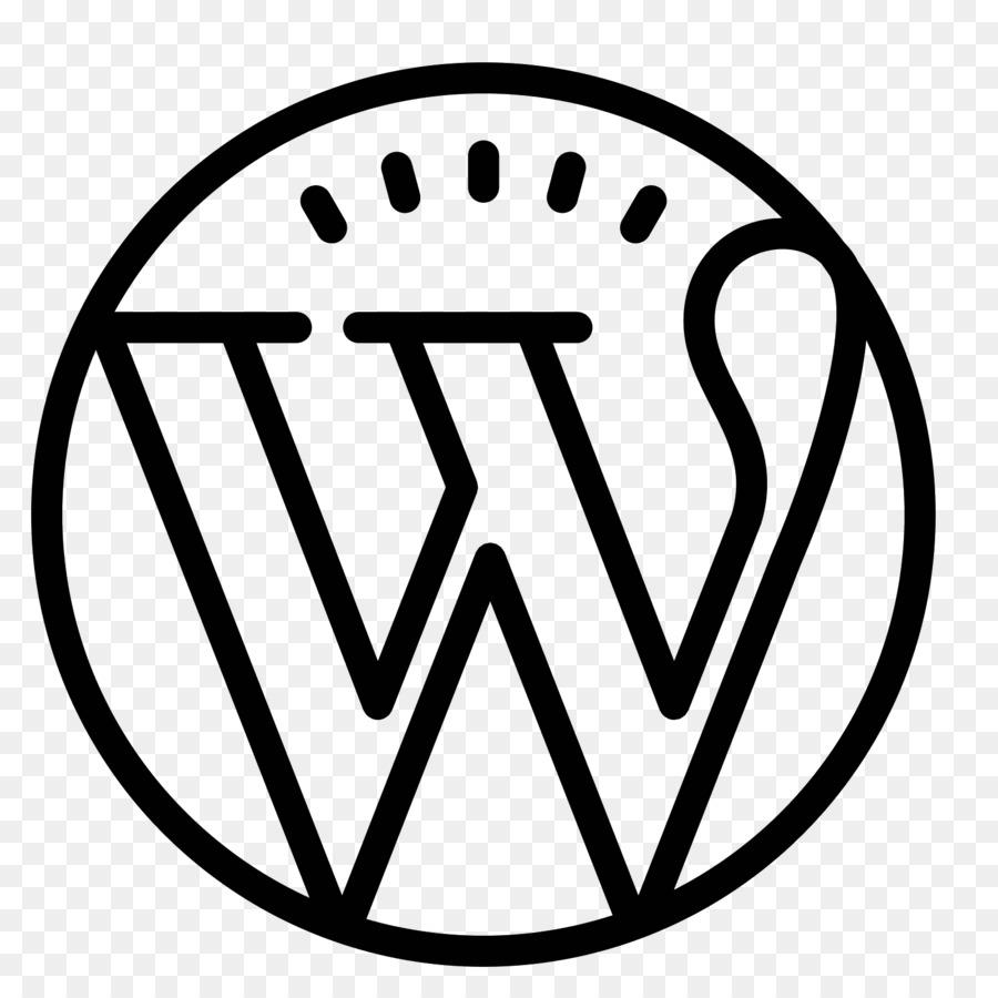 Wordpress Black And White png download - 1600*1600 - Free