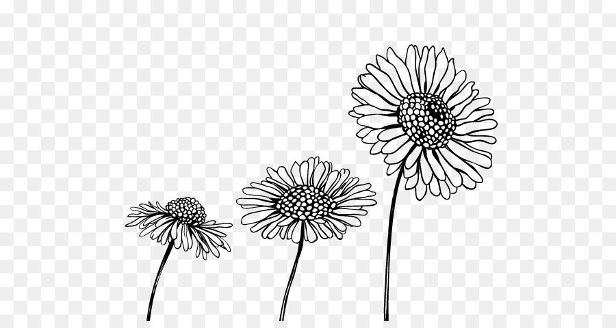 Dibujo de flores de Corte en blanco y Negro - páginas en color png ...