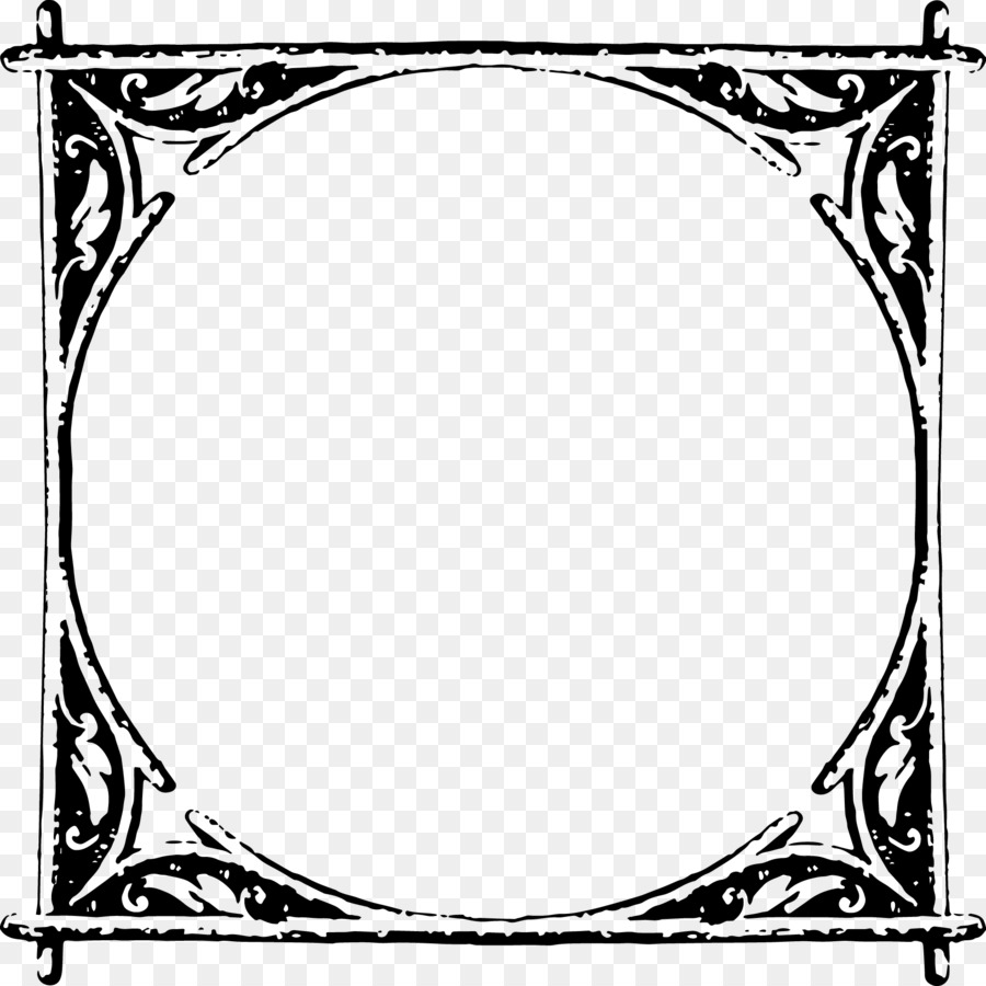 Picture Frames White Line art Pattern - rustic Frame png download ...