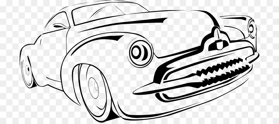 Klasik Araba Elektrikli Araba Boyama Kitabı Araba çizgi Png Indir