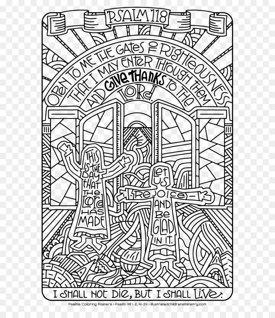 Psalms Bible Coloring Book
