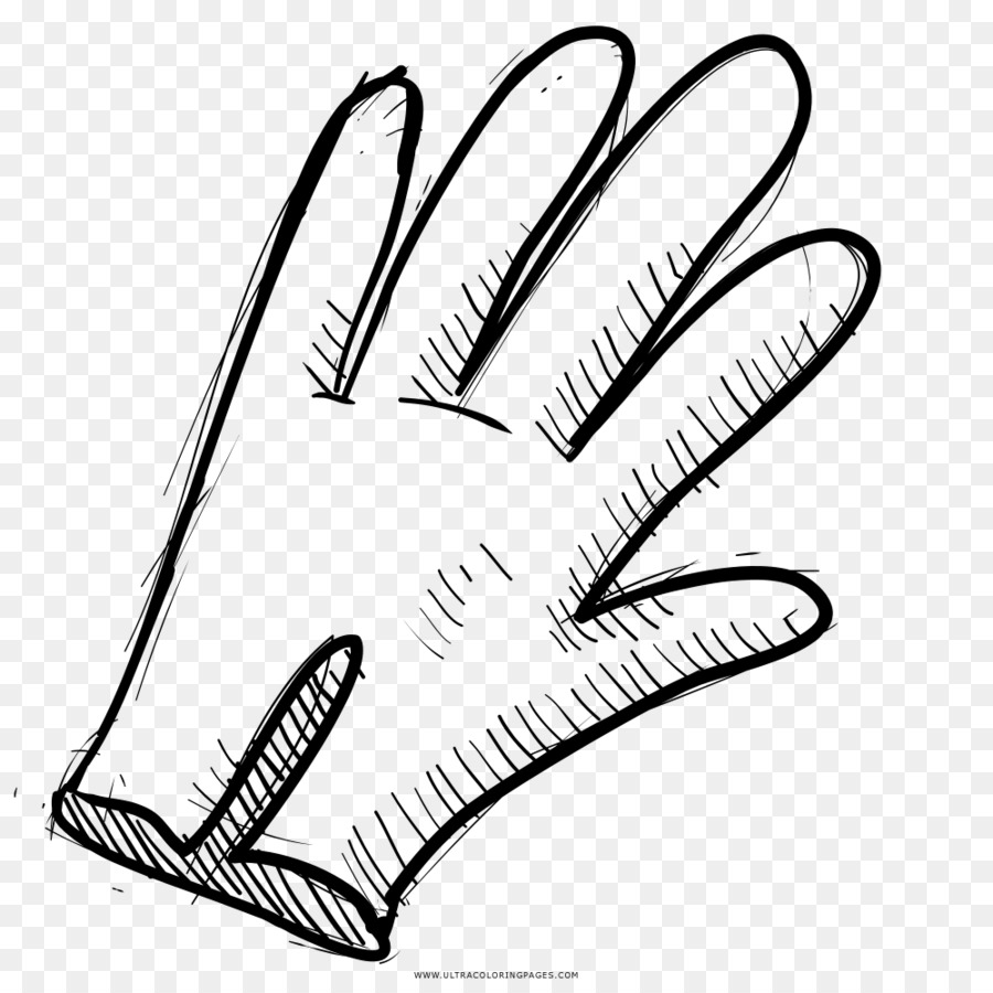 Drawing Glove Black and white Coloring book Line art - print poster ...