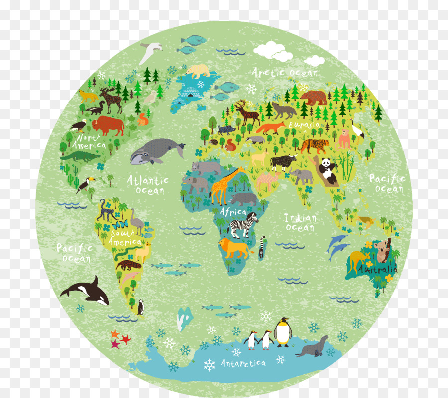 World Map Wall Decal Child World Map Png Download 800 800 Free