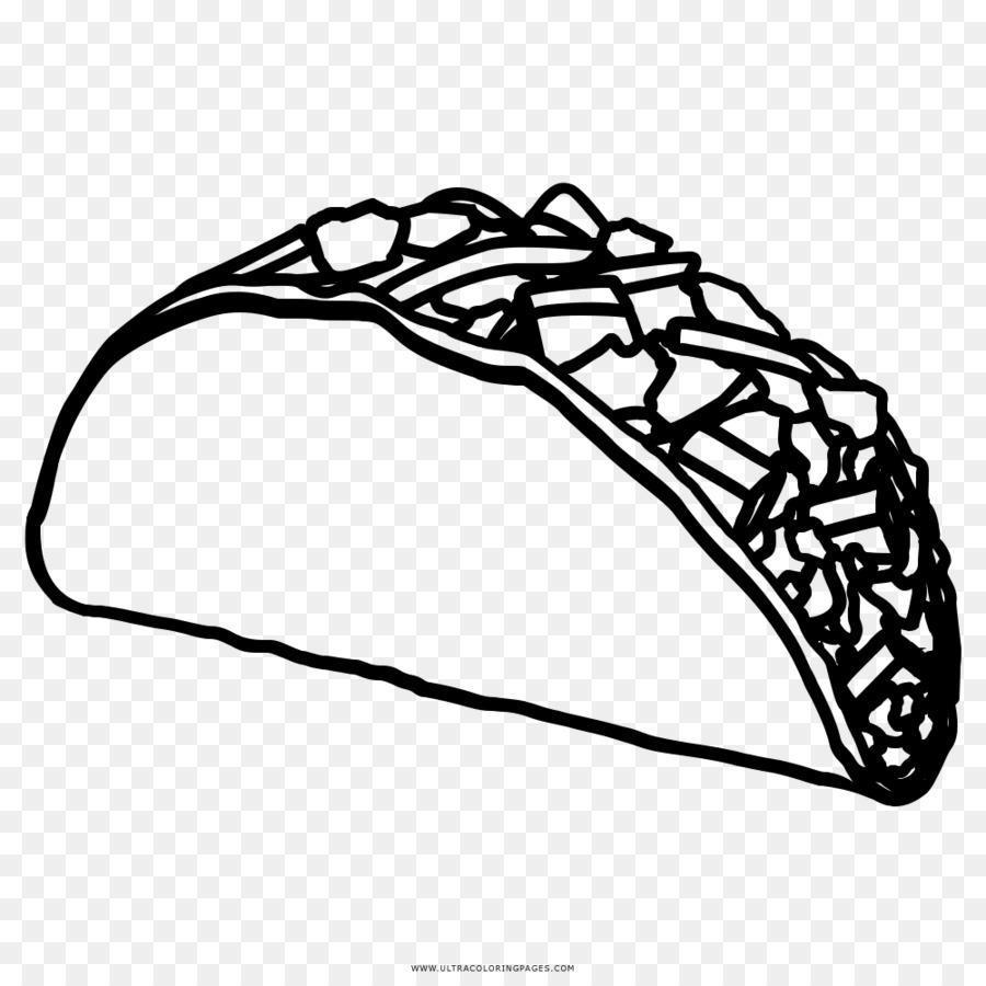 Taco de Dibujo de libro para Colorear de Alimentos - taco png dibujo ...