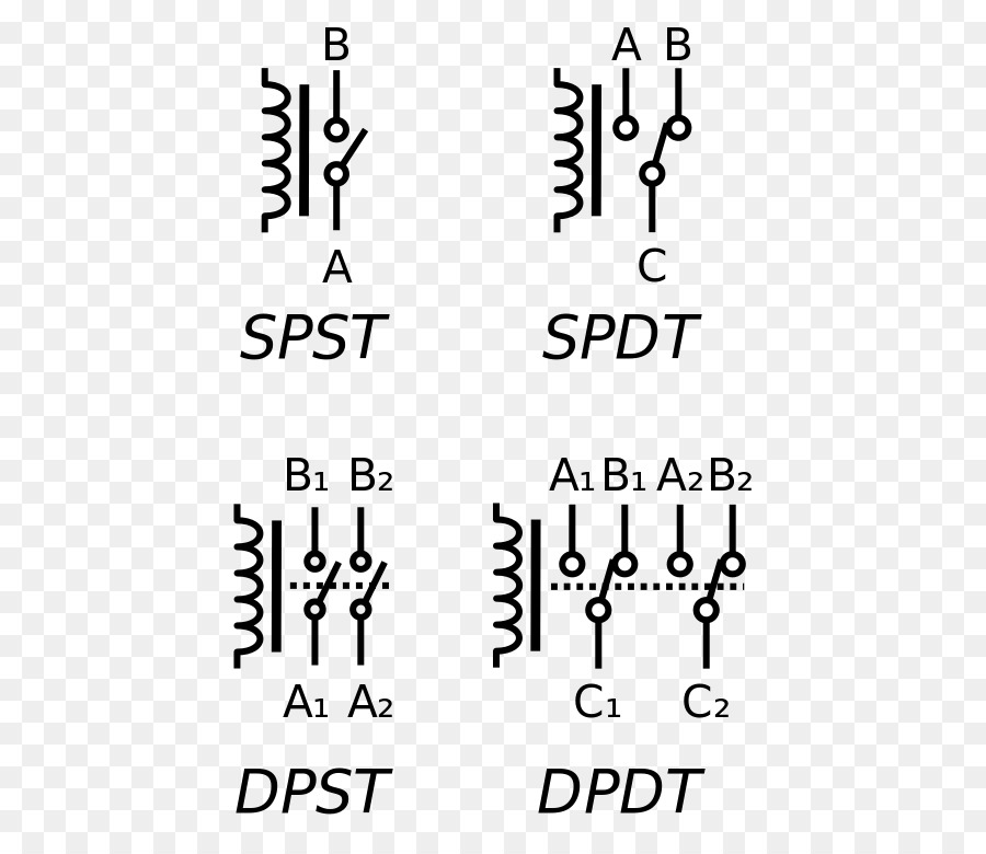 Electronic Symbol Relay Electrical Switches Circuit Diagram