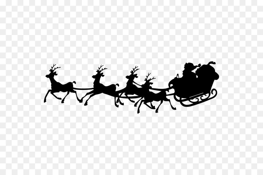 Santa Claus Silhouette Schlitten Clipart Weihnachtsmann Png