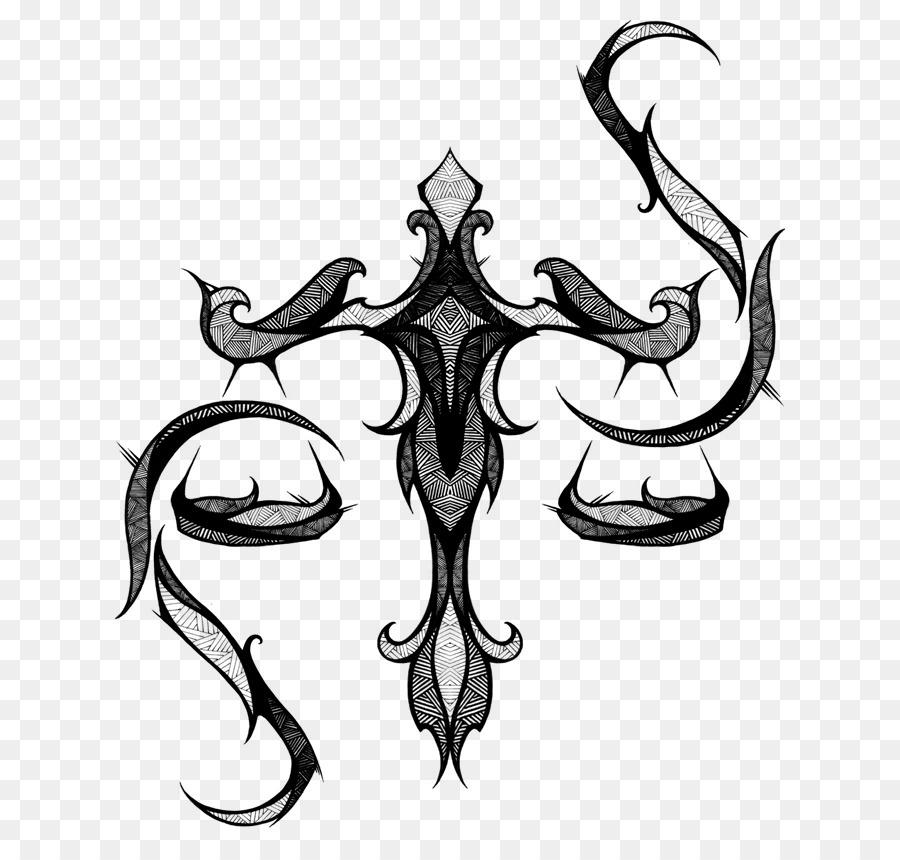 Libra Tattoo Zodiac Astrological Sign Symbol Libra Png Download