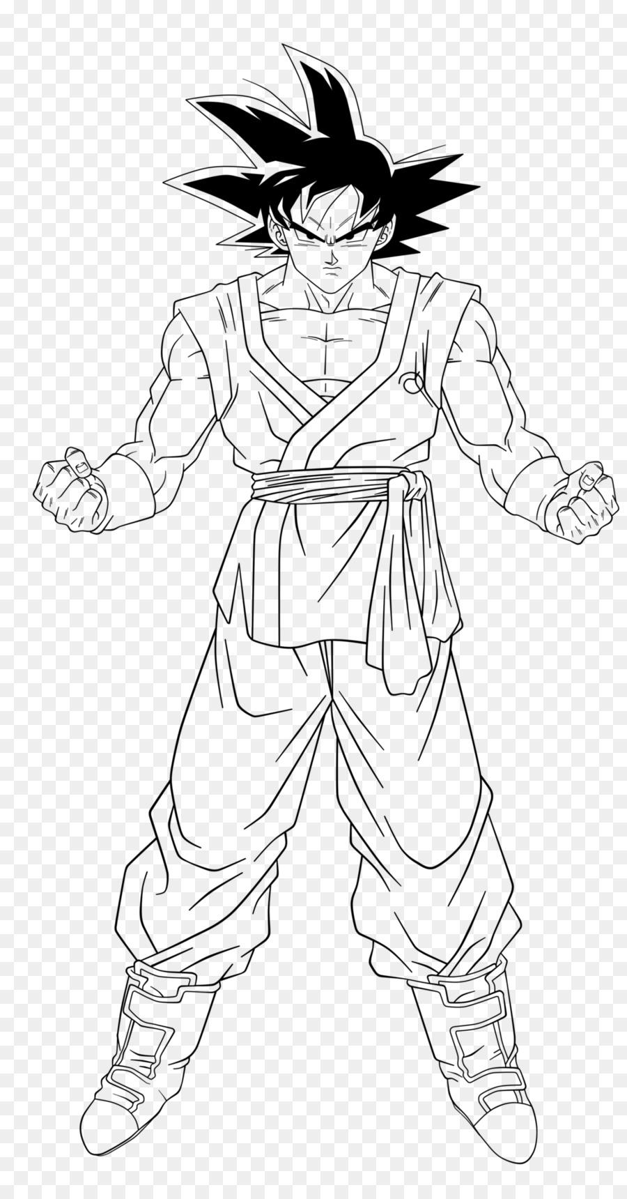 Goku Line Art Vegeta Drawing Tattoo Goku Png Download 1024 1938