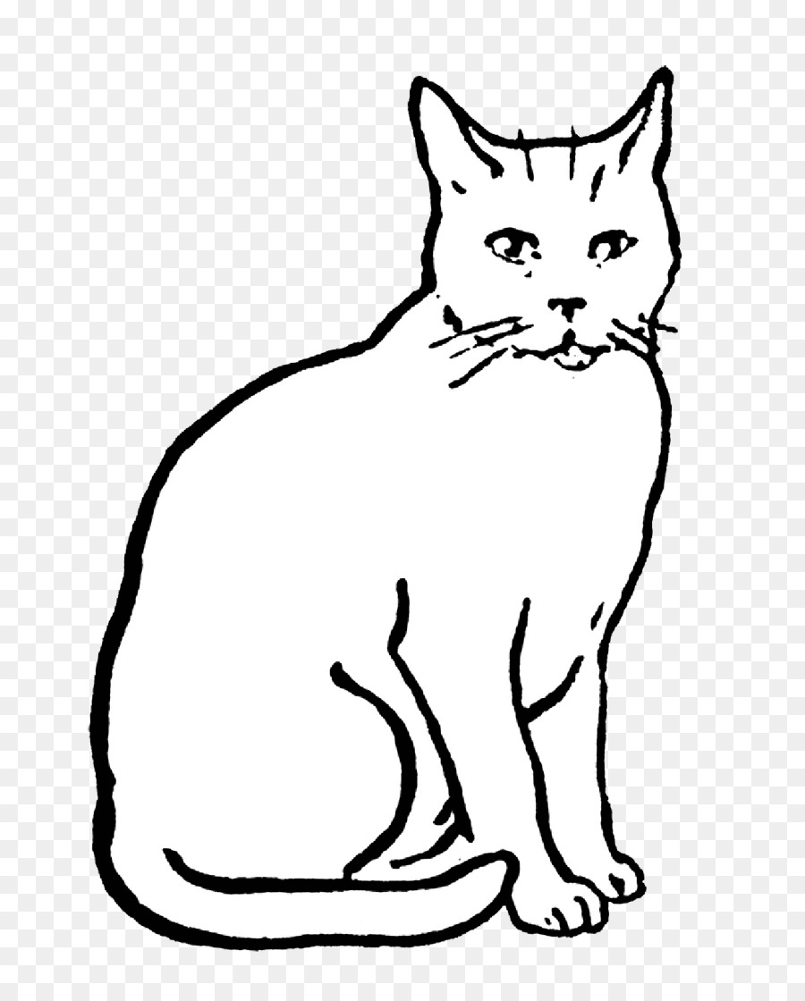 Cat Drawing Line art Clip art - Cat png download - 817 ...