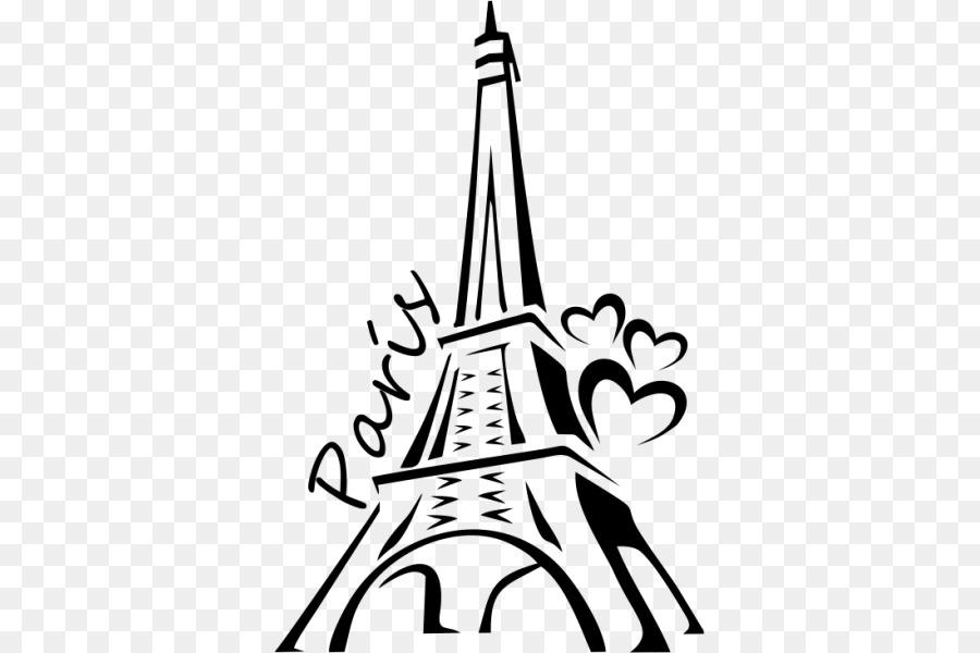 Eyfel Kulesi Boyama Siluet çizimi Eyfel Kulesi Png Indir 600600