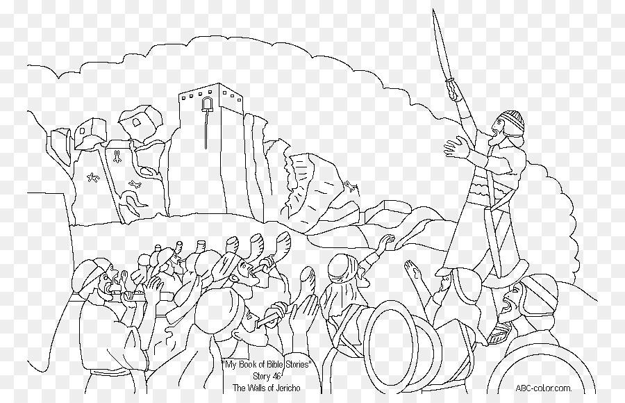 Josué y la Batalla de Jericó Muro de Jericó libro para Colorear ...