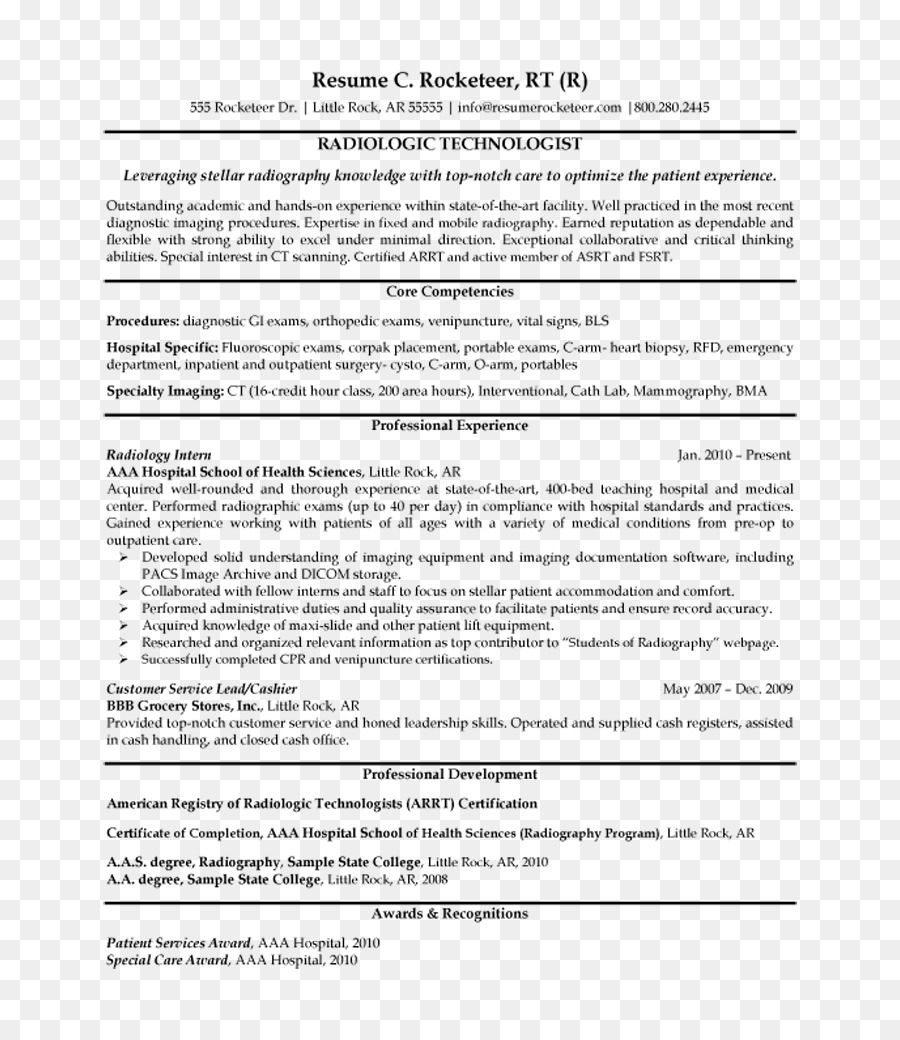 radiographer résumé radiology cover letter x ray technology png