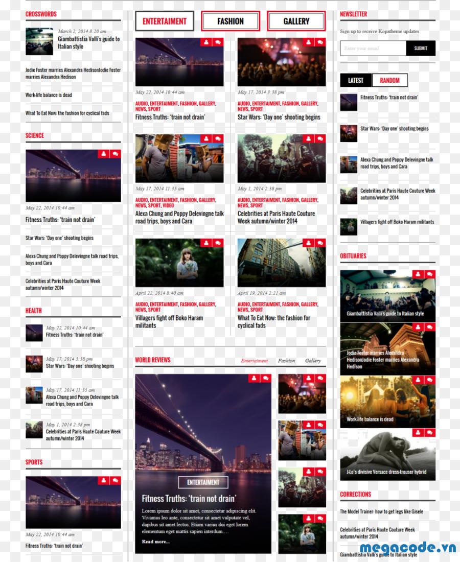 WordPress Template Newsletter Marketing - WordPress png download ...