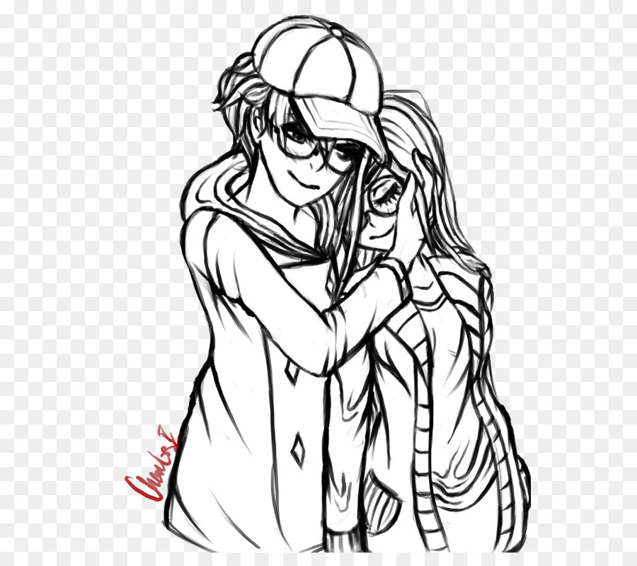 Drawing Line Art M02csf Clip Art Couple Sketch Png Download