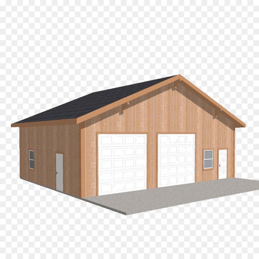 Shed Garage Engineered wood Pole building framing - building png ...