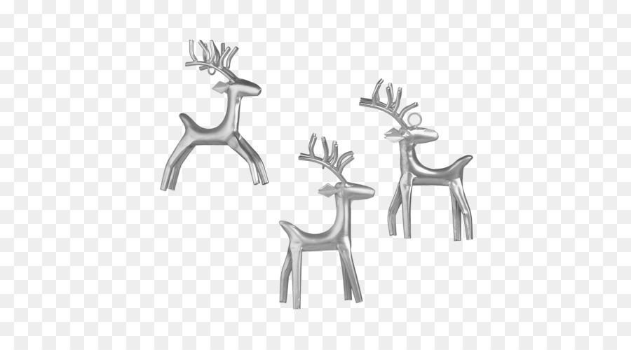 reindeer antler christmas ornament white reindeer