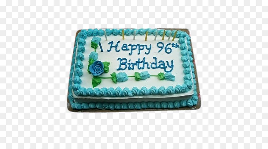 Birthday Cake Sheet Frosting Icing Sugar PNG