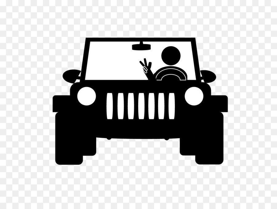 Jeep Wrangler Car Bumper Sticker T Shirt Grey Wave Png Download